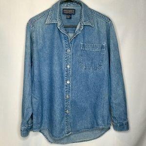 Blue Denim Shirt Womens Size Small Newton Trading